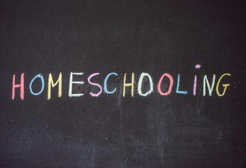 homeschooling-kind-das-auf-wort-einem-blackbo-zeigt-97596135